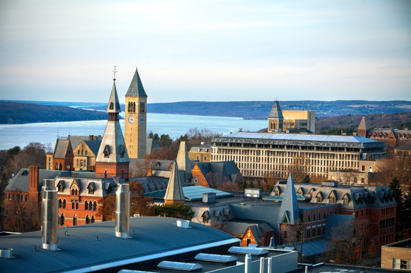 Gorgeous view of Cornell campus and river
